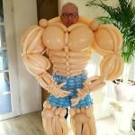 Bodybuilder balloons