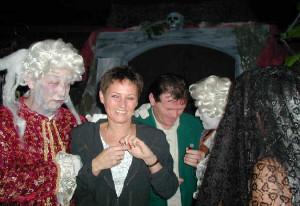 Zombies act themafeest horror of halloween