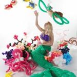 ballonartiest thema onder water