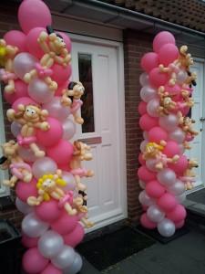 Ballonpilaar met ballonfiguren