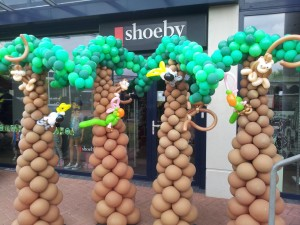 palmbomen van ballonnen